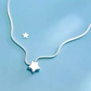 NEW 925 STERLING SILVER PLATED STAR NECKLACE